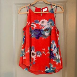 Red Flowered Tank